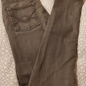 7 FOR ALL MANKIND grey fitted jeans
